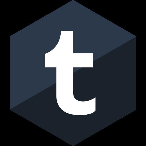 gloss, hexagon, media, social, tumblr icon
