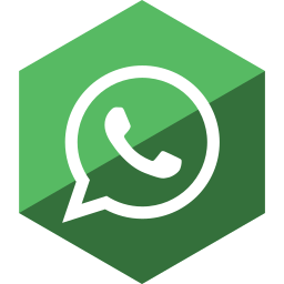 gloss, hexagon, media, social, whatsapp icon