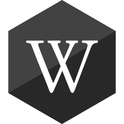 gloss, hexagon, media, social, wikipedia icon