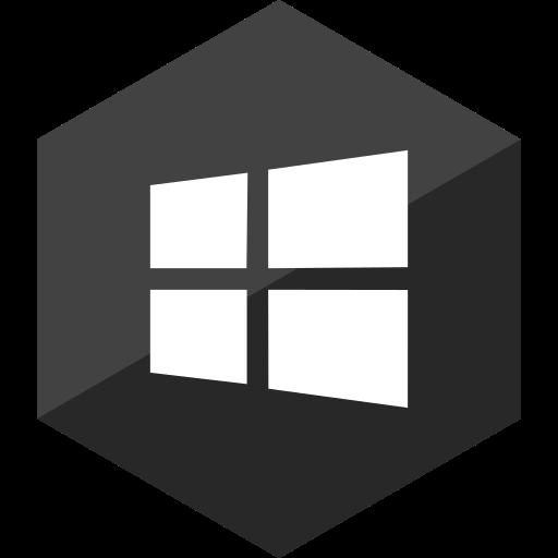 gloss, hexagon, media, social, store, window icon