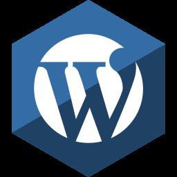 gloss, hexagon, media, social, wordpress icon
