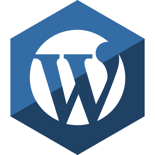gloss, hexagon, media, social, wordpress icon