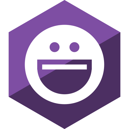 gloss, hexagon, media, messenger, social, yahoo icon