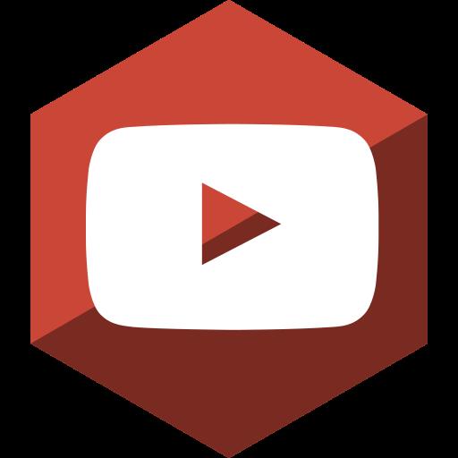 gloss, hexagon, media, social, youtube icon