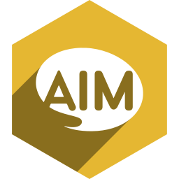 aim, hexagon, media, shadow, social icon