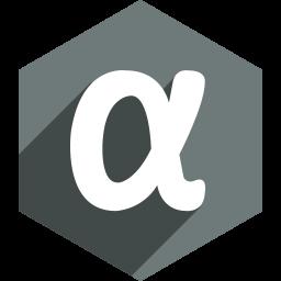 app, hexagon, media, net, shadow, social icon