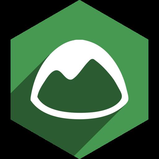 basecamp, hexagon, media, shadow, social icon