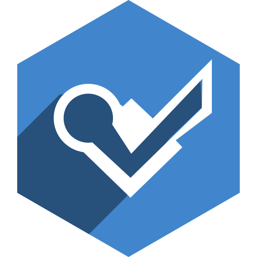 foursquare, hexagon, media, shadow, social icon
