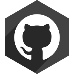 github, hexagon, media, shadow, social icon
