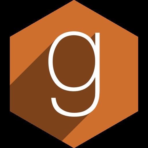 goodread, hexagon, media, shadow, social icon