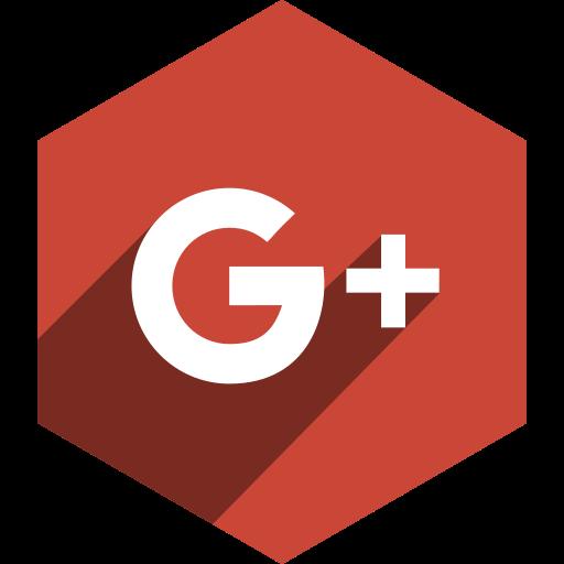 google, hexagon, media, plus, shadow, social icon