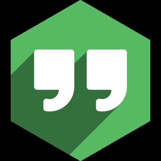 hangouts, hexagon, media, shadow, social icon