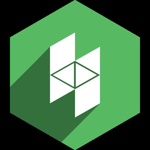 hexagon, houzz, media, shadow, social icon