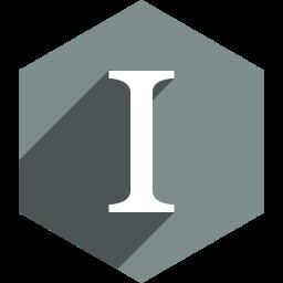 hexagon, instapaper, media, shadow, social icon