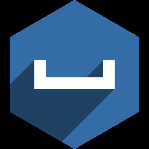 hexagon, media, my, shadow, social, space icon
