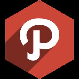 hexagon, media, path, shadow, social icon