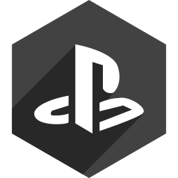 hexagon, media, playstation, shadow, social icon
