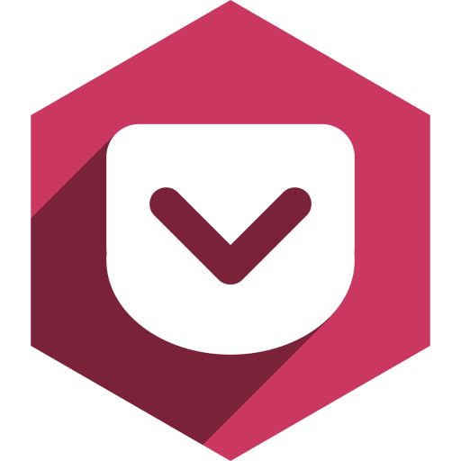hexagon, media, pocket, shadow, social icon