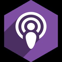 hexagon, media, podcast, shadow, social icon