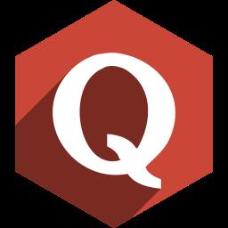hexagon, media, quora, shadow, social icon