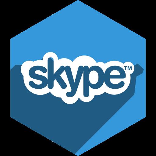hexagon, media, shadow, skype, social icon
