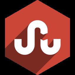 hexagon, media, shadow, social, stumbleupon icon