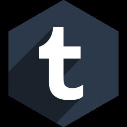 hexagon, media, shadow, social, tumblr icon