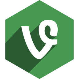 hexagon, media, shadow, social, vine icon