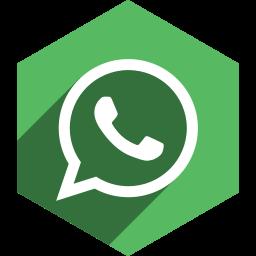 hexagon, media, shadow, social, whatsapp icon