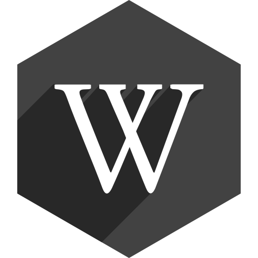 hexagon, media, shadow, social, wikipedia icon