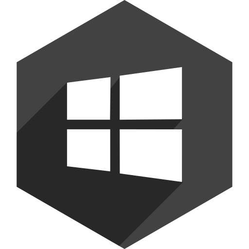 hexagon, media, shadow, social, store, window icon