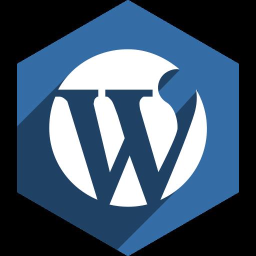hexagon, media, shadow, social, wordpress icon