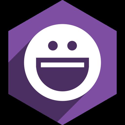 hexagon, media, messenger, shadow, social, yahoo icon