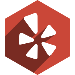 hexagon, media, shadow, social, yelp icon