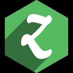 hexagon, media, shadow, social, zootool icon