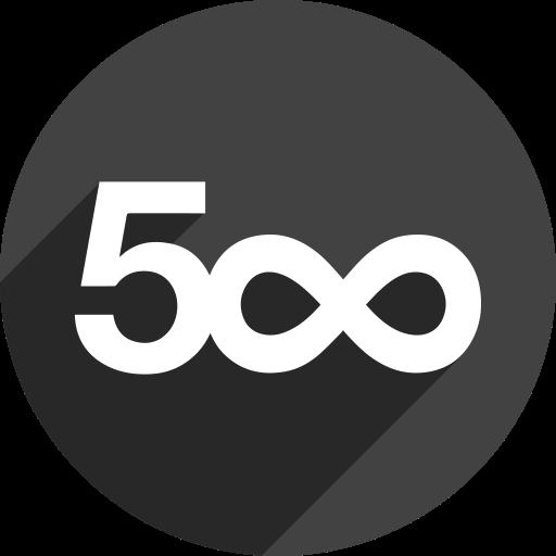 500 designs icon