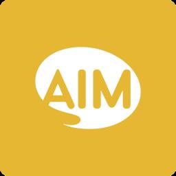 aim, media, social, square icon