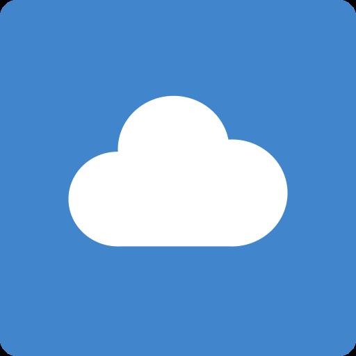 cloudapp, media, social, square icon