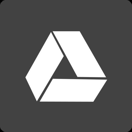 drive, google, media, social, square icon