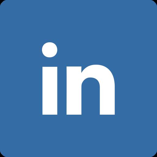 linkedin, media, social, square icon