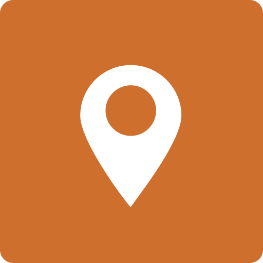 location, media, social, square icon