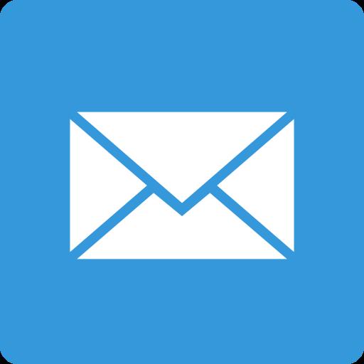 mail, media, social, square icon