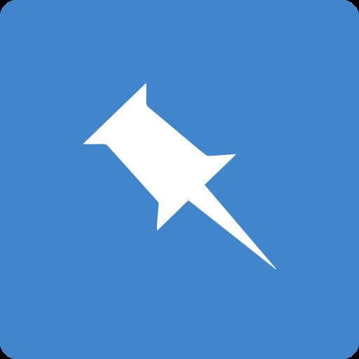 media, pinboard, social, square icon