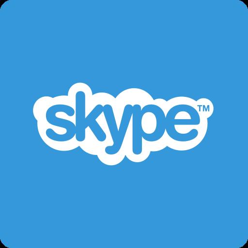 media, skype, social, square icon