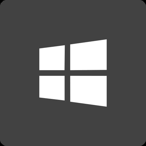 media, social, square, store, window icon