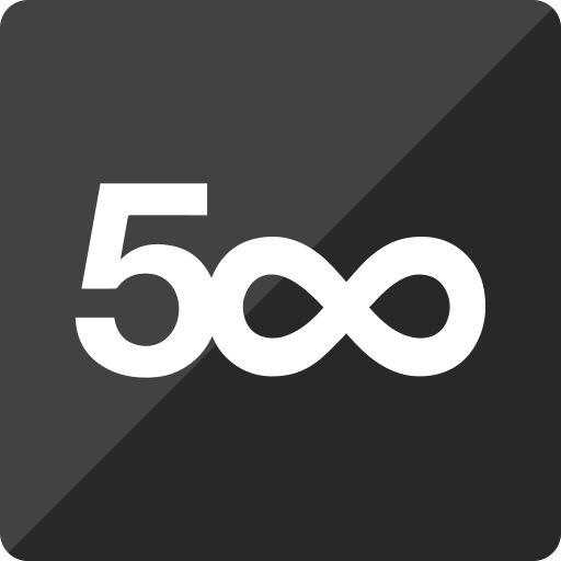 500 pixel, gloss, media, social, square icon