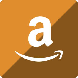 amazon, gloss, media, social, square icon