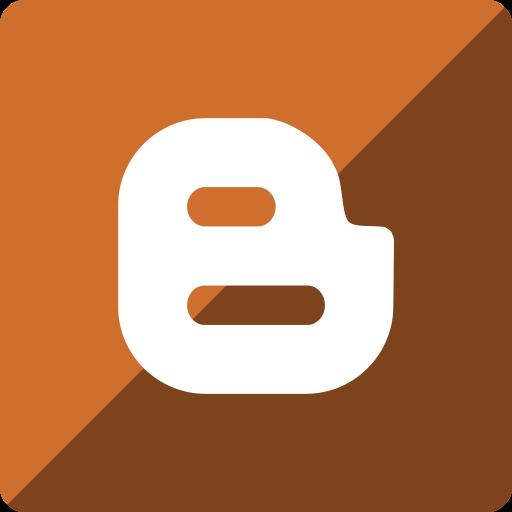 blogger, gloss, media, social, square icon