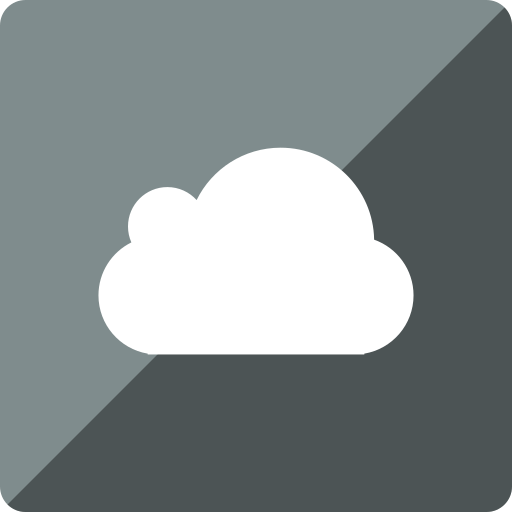 cloud, gloss, media, social, square icon