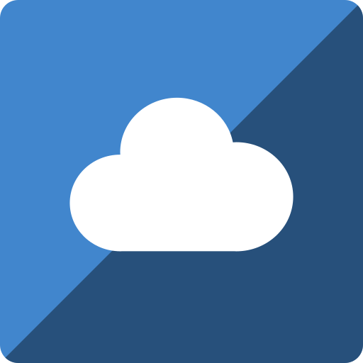 cloudapp, gloss, media, social, square icon